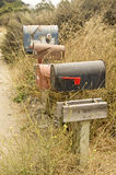 A Row of Rural Mail Boxes Stock Photography