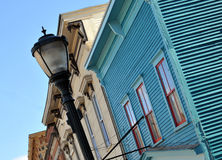 Row of 1700s Georgian architecture buildings Royalty Free Stock Images