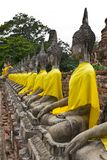 Row of Sacred Buddha images Stock Image