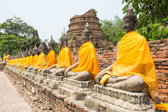 Row of Sacred Buddhas Stock Photos