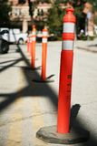 Row of Safety Poles Stock Image