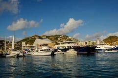 Row of Sailboats. Row of boats, sailboats and yachts stock image