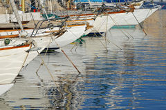 Row of sailboats Royalty Free Stock Photos
