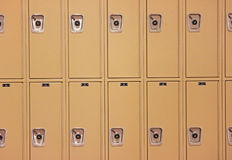 Row of School Lockers. Waiting for Students to Return stock image