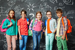 Row of schoolkids Stock Image