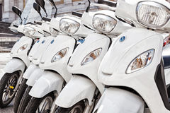 Row of scooter Royalty Free Stock Photos