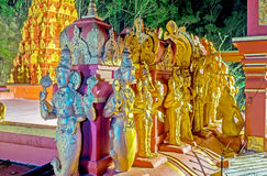 The row of sculptures on Hindu Temple Royalty Free Stock Photo