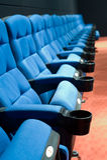 Row of seats in cinema Stock Photos