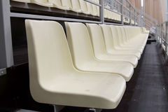 Row of seats for fans at a stadium Stock Photography