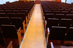 Row Seats. In the hall shows a number of empty seats to represent Royalty Free Stock Images