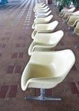 Row of seats inside railway waiting room Royalty Free Stock Photography