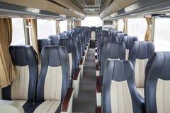 Row of seats in public bus Stock Photos