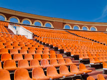 Row of seats at stadium Stock Photography