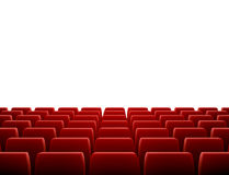 Row of Seats in Theatre Stock Images