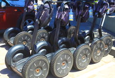 Row of Segway Stock Image