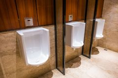Automatic flush urinal royalty free stock photography