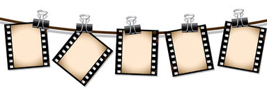 Row of sepia film strips. Please check my portfolio for more film illustrations Royalty Free Stock Images