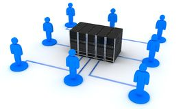 Row server and user Royalty Free Stock Image