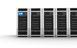 Row servers. Abstract presentation of the server on earth Royalty Free Stock Photo