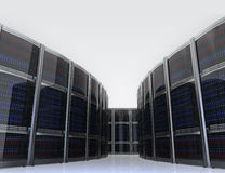 Row of servers in  data center with simple background.  Royalty Free Stock Photography