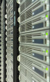 A row of servers in a datacenter Stock Image