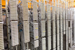 Row of servers rack. In server room Stock Photo