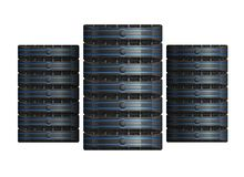 Row of Servers Royalty Free Stock Photography