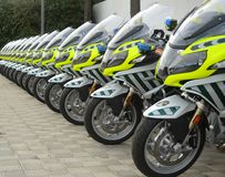 New motorcycles for guardia civil Royalty Free Stock Photo