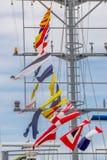 Row ship flag signal Stock Images