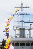 Row ship flag signal Royalty Free Stock Images
