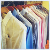 Row of shirts Royalty Free Stock Images