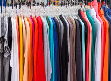 Row of shirts Royalty Free Stock Photos