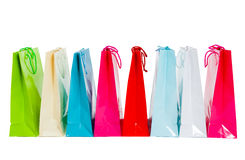 Row of shopping bags Stock Image
