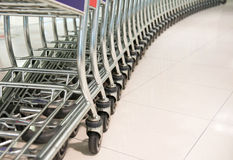 Row of shopping cart Stock Photography