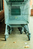Row of shopping cart trolley outdoor Royalty Free Stock Photography