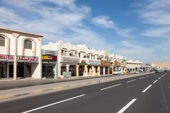 Row of shops in the city of Al Ain Royalty Free Stock Image