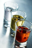 Row of shots. Row of colorful glass shots Stock Photo
