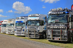 Row of Show Trucks Stock Photos