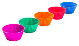 Row OF Silicone Cupcake Baking Cups I Stock Photos