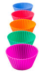 Row OF Silicone Cupcake Baking Cups II Stock Images