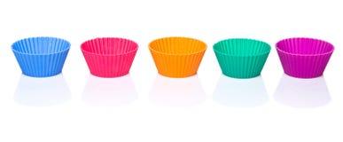 Row OF Silicone Cupcake Baking Cups III Stock Photography