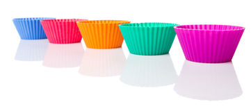 Row OF Silicone Cupcake Baking Cups IX Royalty Free Stock Photography