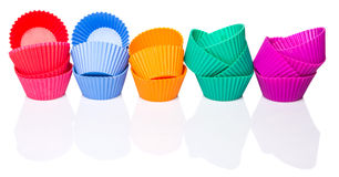 Row OF Silicone Cupcake Baking Cups X Royalty Free Stock Photo
