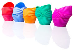 Row OF Silicone Cupcake Baking Cups VI Stock Image