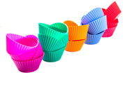 Row OF Silicone Cupcake Baking Cups VIII Royalty Free Stock Photos