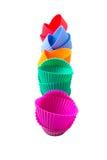 Row OF Silicone Cupcake Baking Cups XI Stock Photo