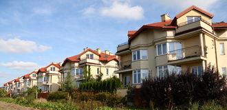 Row of similar houses Royalty Free Stock Image