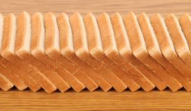 Row of sliced wheaten bread Royalty Free Stock Photos