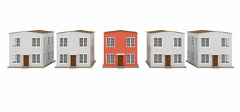 A row of small houses Stock Image