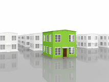 A row of small houses Royalty Free Stock Photography